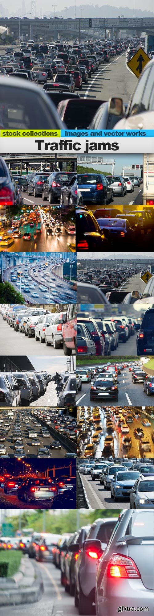 Traffic jams, 15 x UHQ JPEG