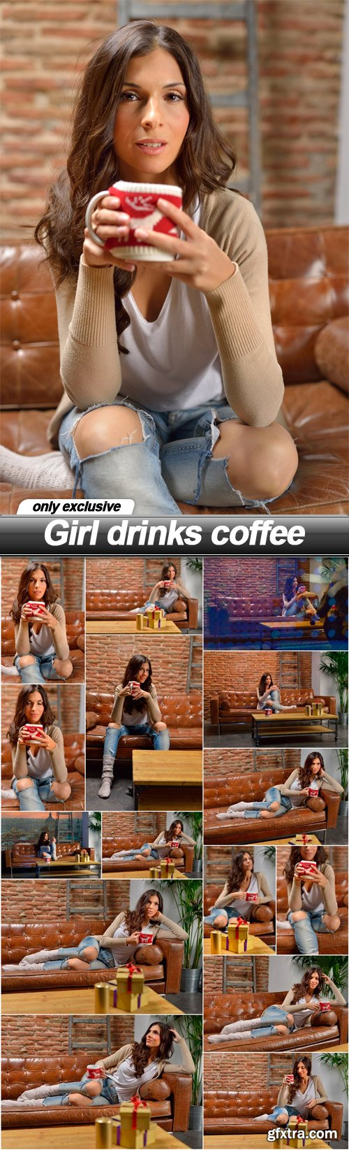 Girl drinks coffee - 15 UHQ JPEG