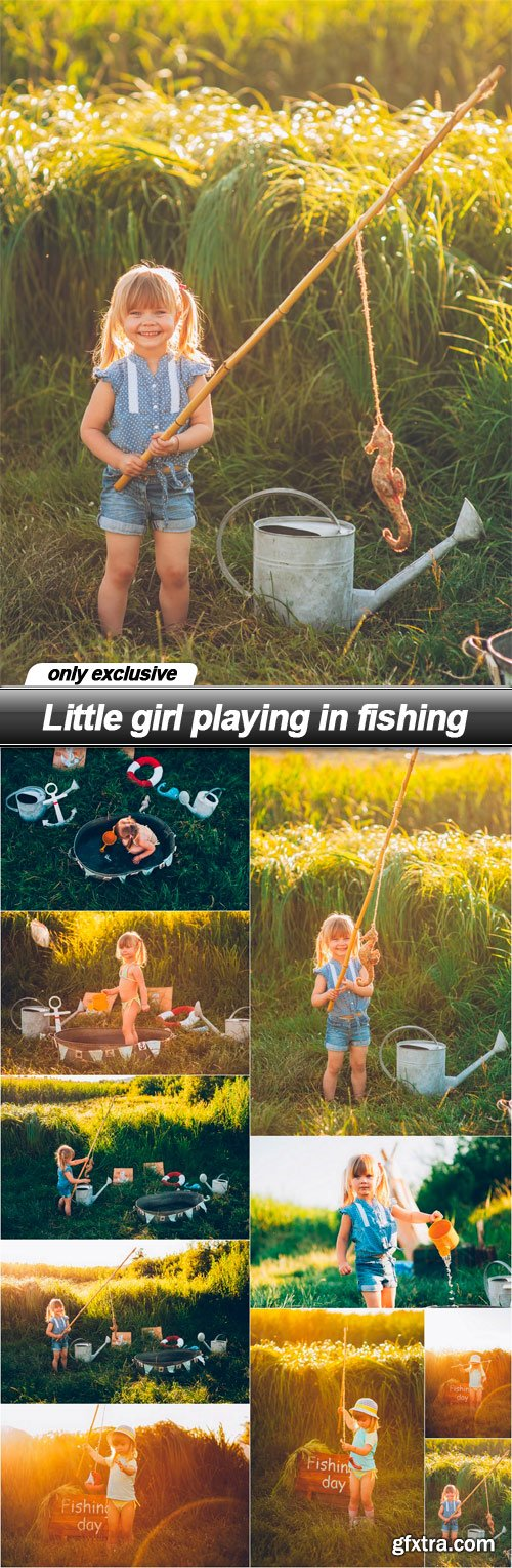 Little girl playing in fishing - 10 UHQ JPEG