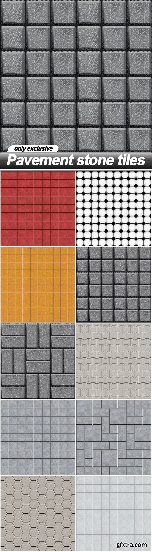 Pavement stone tiles - 10 EPS