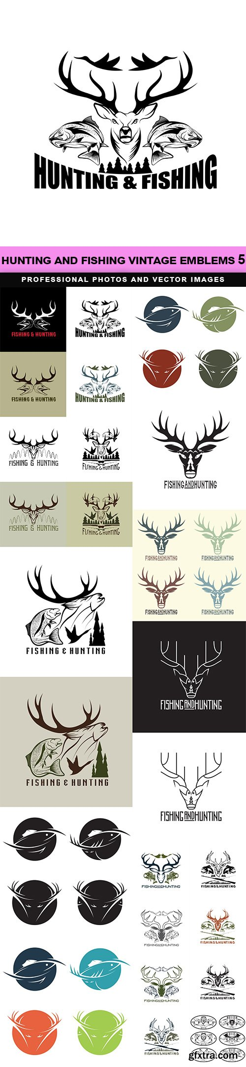Hunting and fishing vintage emblems 5
