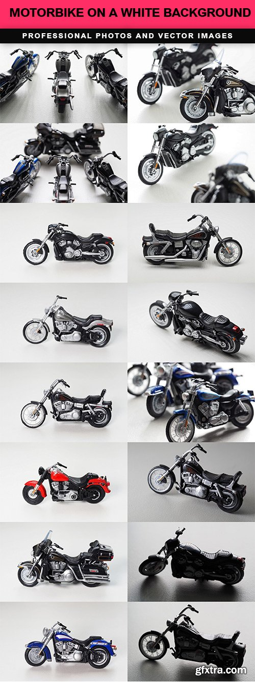 Motorbike on a white background