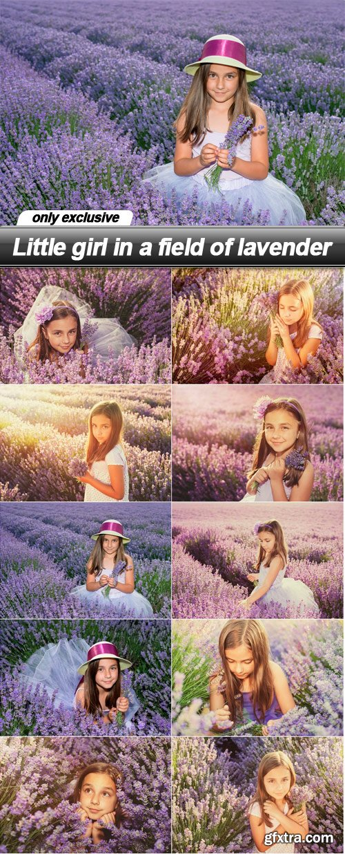 Little girl in a field of lavender - 10 UHQ JPEG
