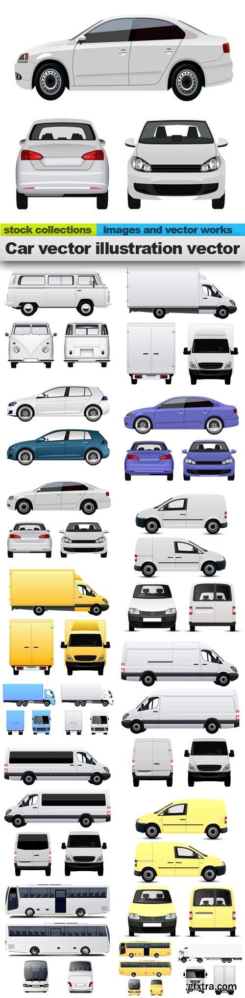 Car vector illustration vector, 15 x EPS