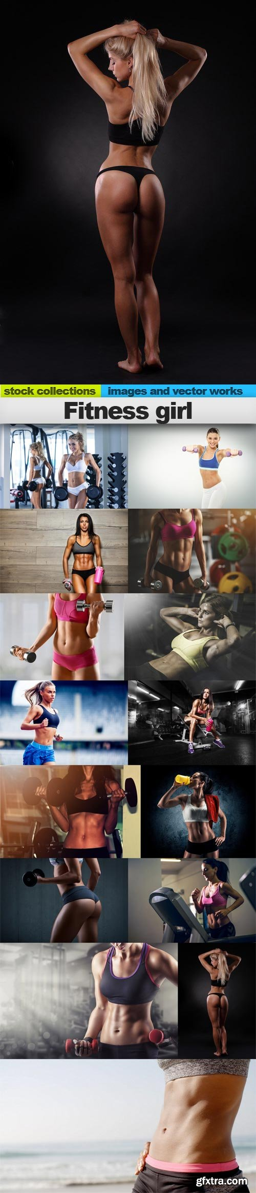 Fitness girl, 15 x UHQ JPEG