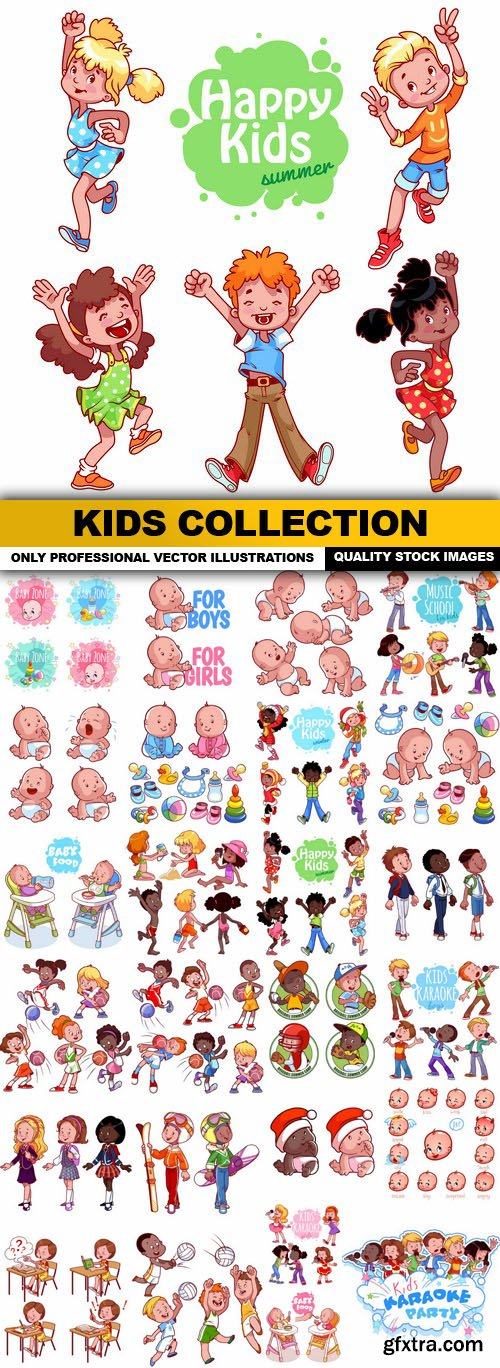 Kids Collection - 25 Vector