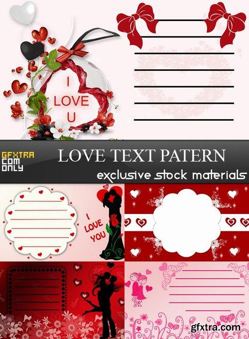 Love Text Patern- 5 UHQ JPEG