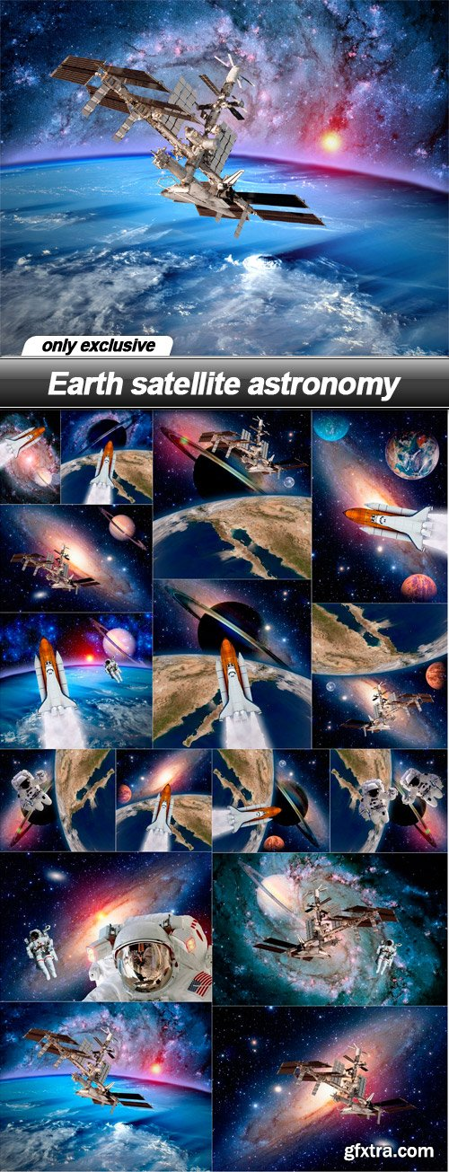 Earth satellite astronomy - 16 UHQ JPEG