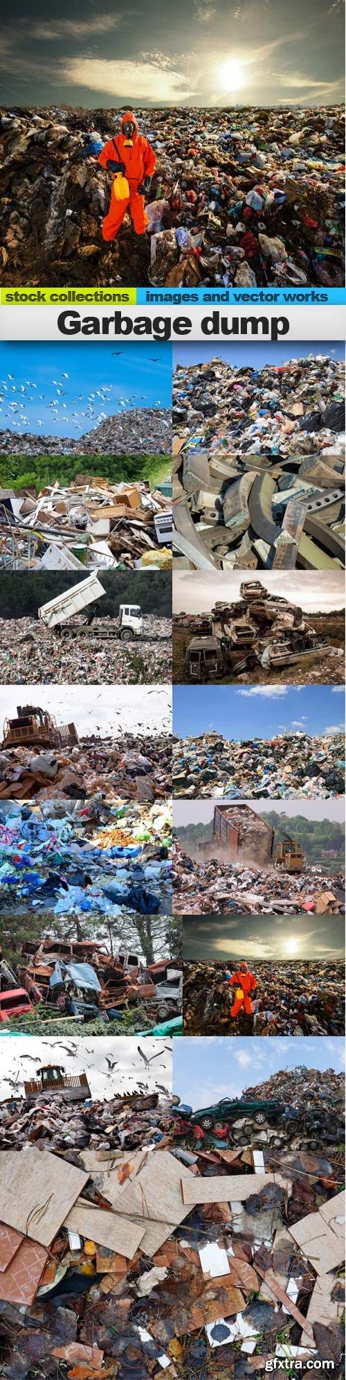Garbage dump, 15 x UHQ JPEG