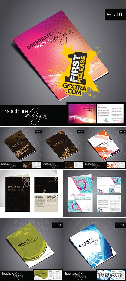 Stock professional business catalog template or corporate brochure stock professional business catalog template or corporate brochure design for document accmission Gallery