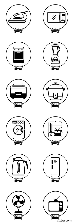 Home appliance icon - Vectors A000019