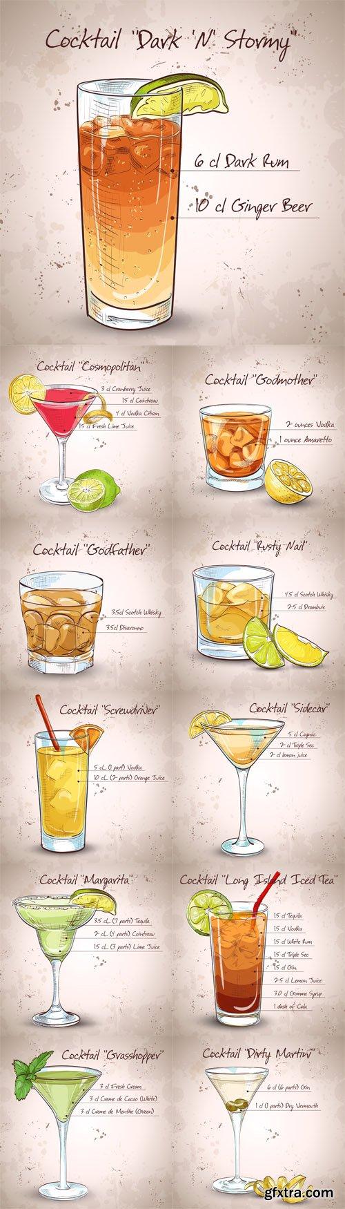 Cocktail set - Vectors A000021