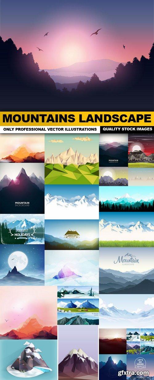 Mountains Landscape - 25 Vector