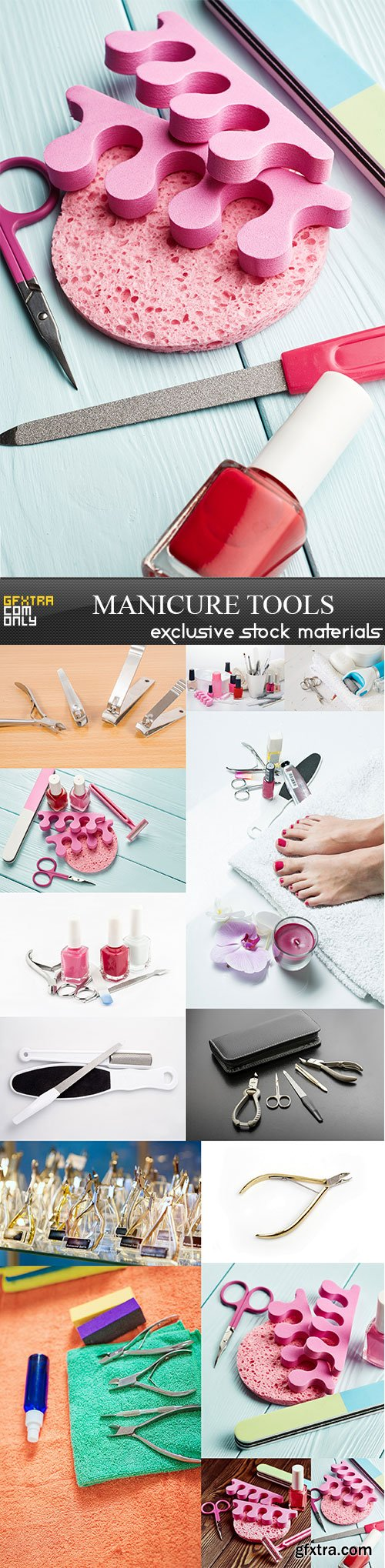 Manicure tools, 14 x UHQ JPEG