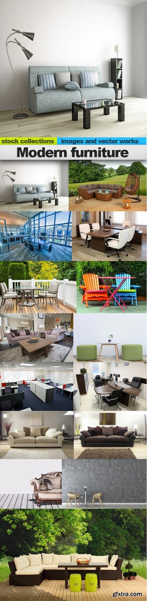 Modern furniture, 15 x UHQ JPEG