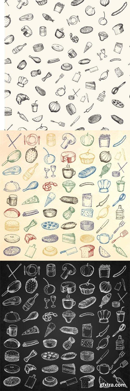 Set of restaurant icons - Vectors A000018