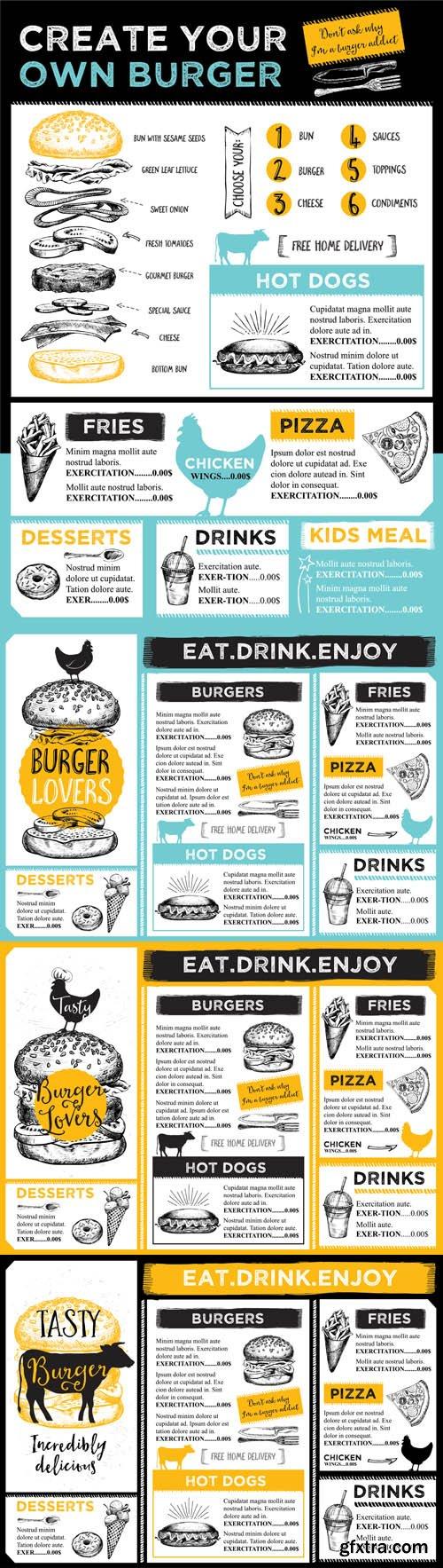 Restaurant cafe menu - Vectors A000014