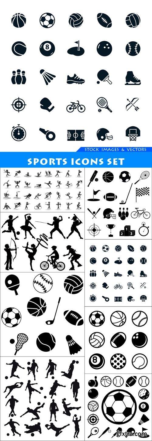 Sports Icons set 8X EPS