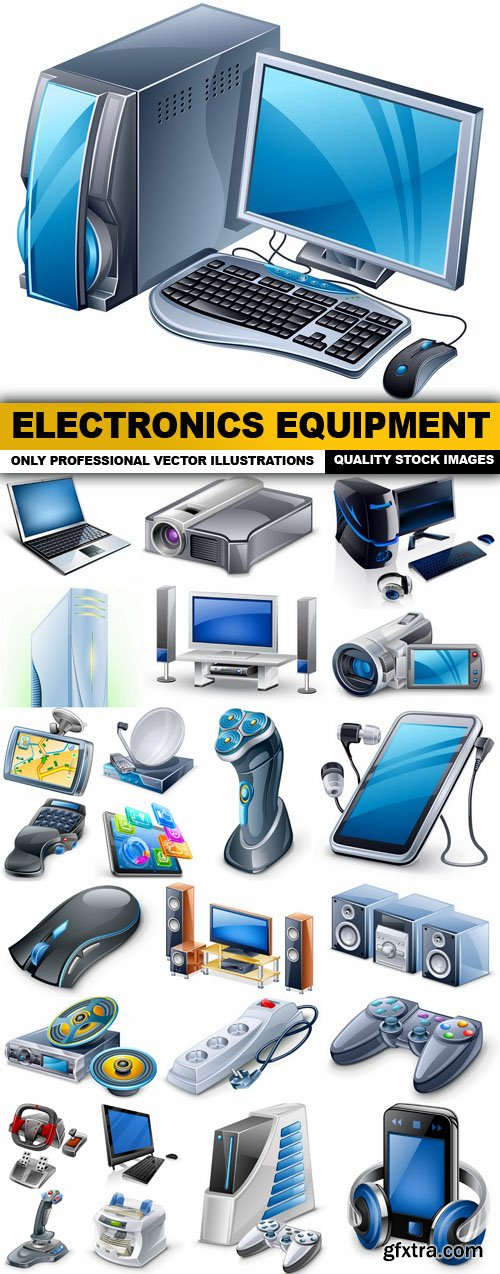Electronics Equipment - 25 Vector