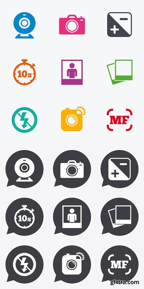 Photo, video icons - Vectors A000009