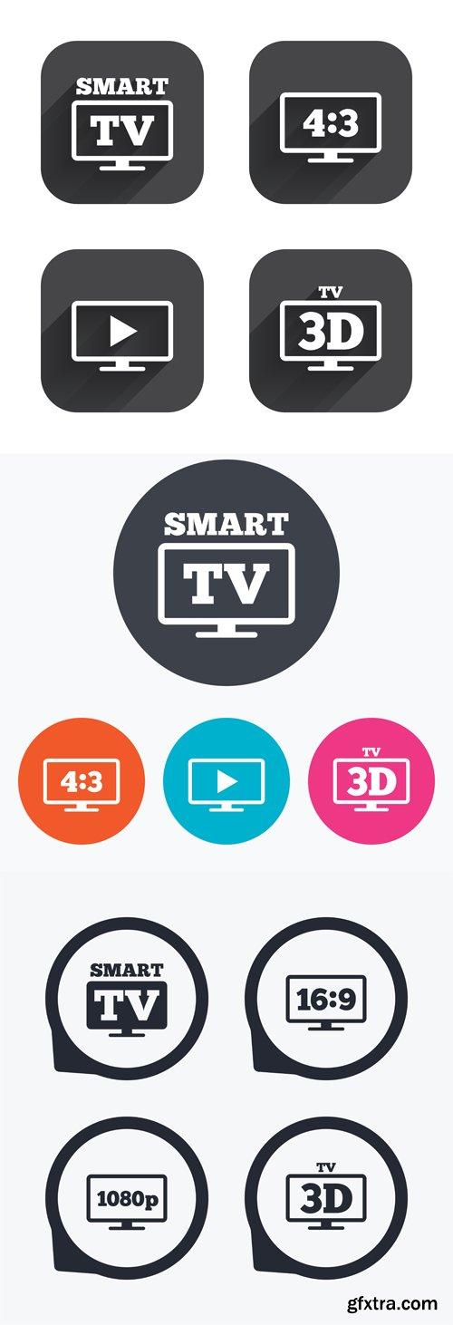 Smart TV mode icon - Vectors A000007