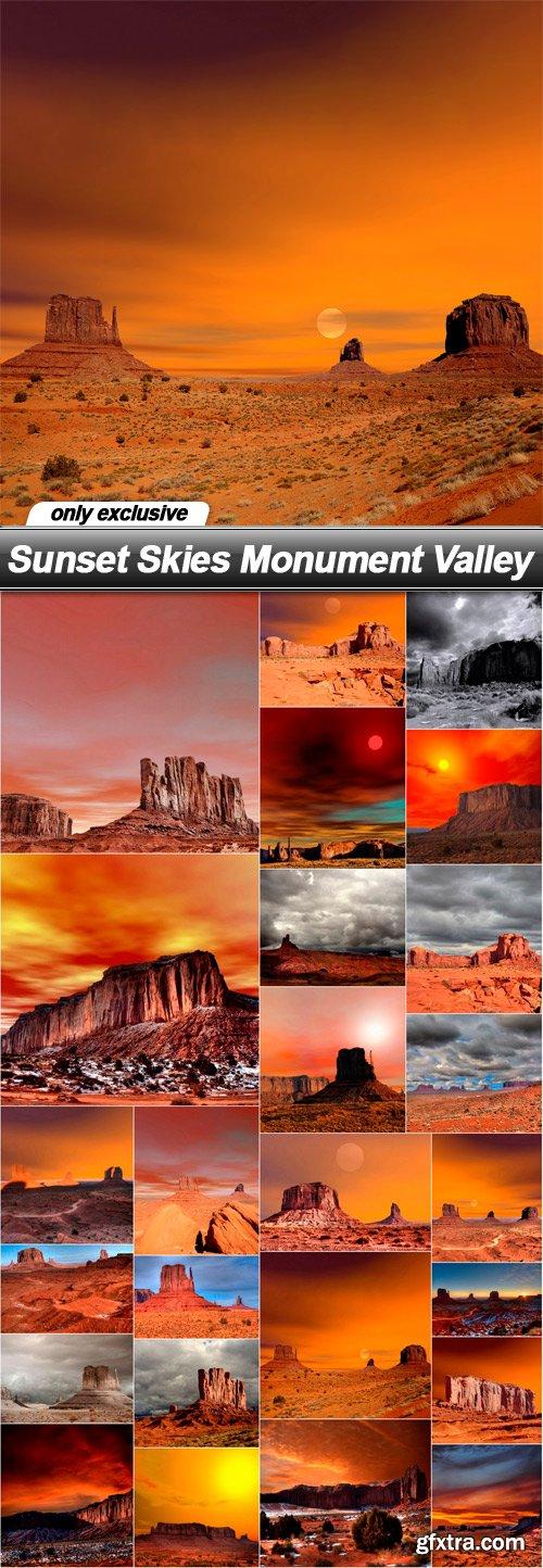 Sunset Skies Monument Valley - 25 UHQ JPEG