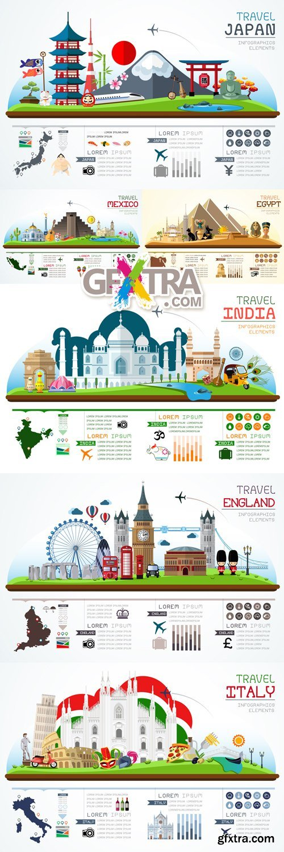 Travel Infographics Vector