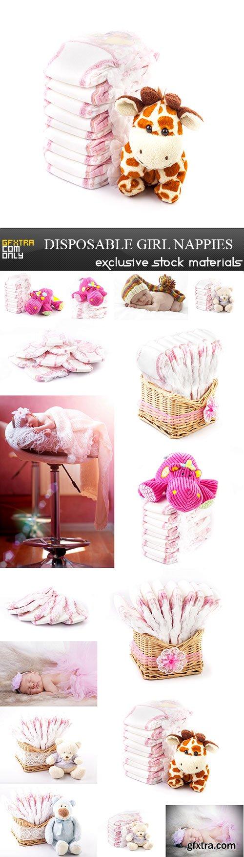 Disposable girl nappies, 16 x UHQ JPEG