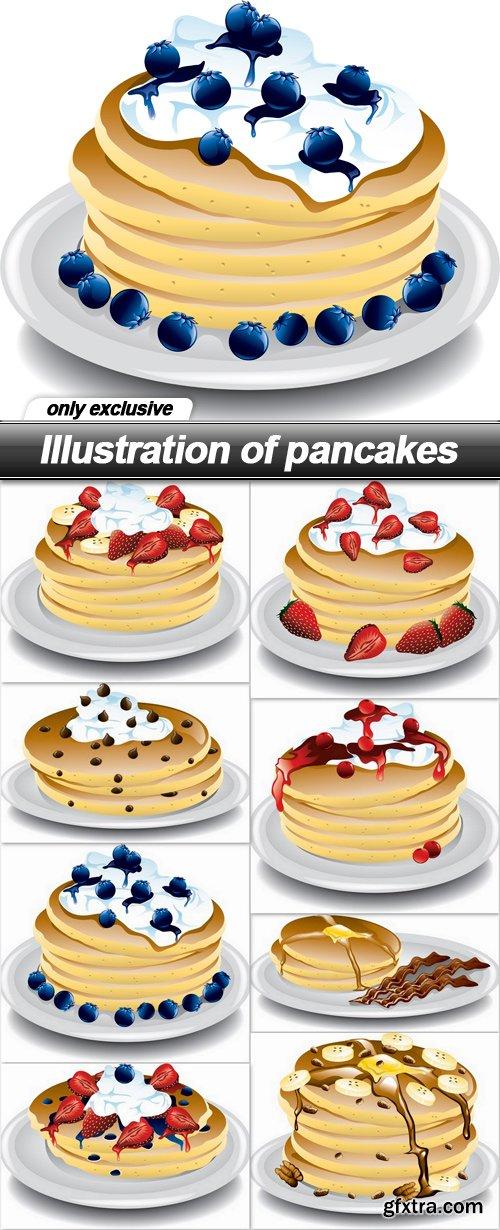 Illustration of pancakes - 8 EPS