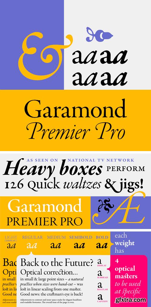 Garamond Premier Pro Font Family
