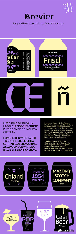 Brevier Font Family