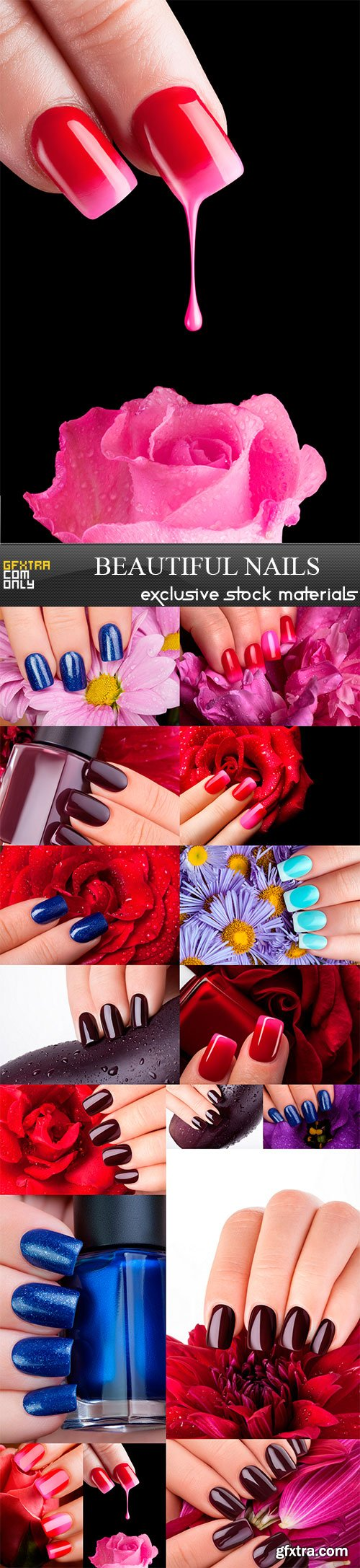 Beautiful nails and great idea for the advertising of cosmetics,16 x UHQ JPEG