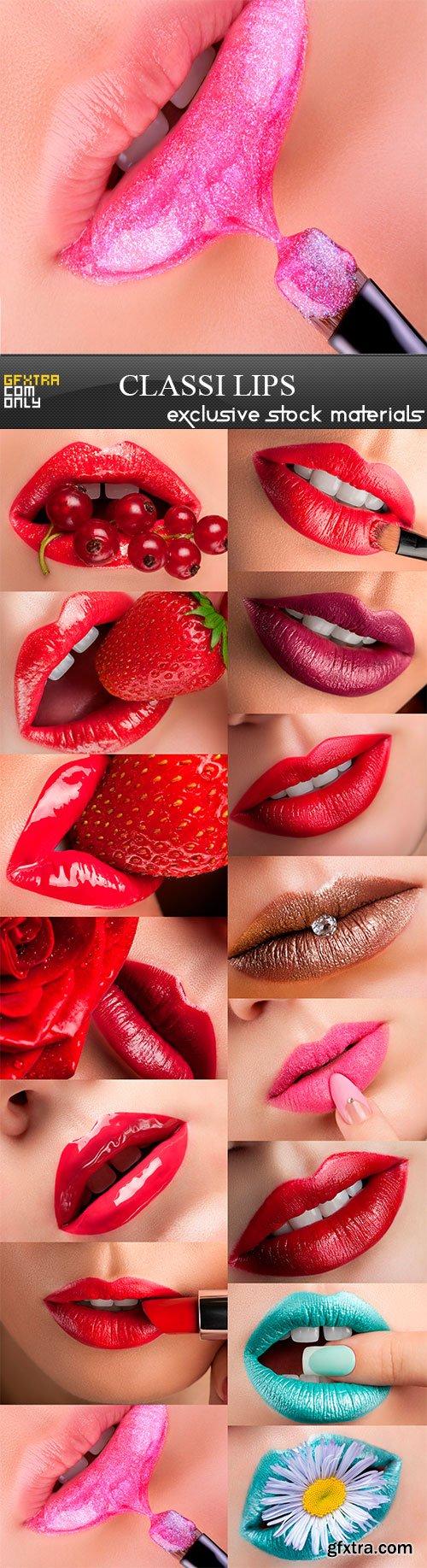 Classi lips, 15 x UHQ JPEG