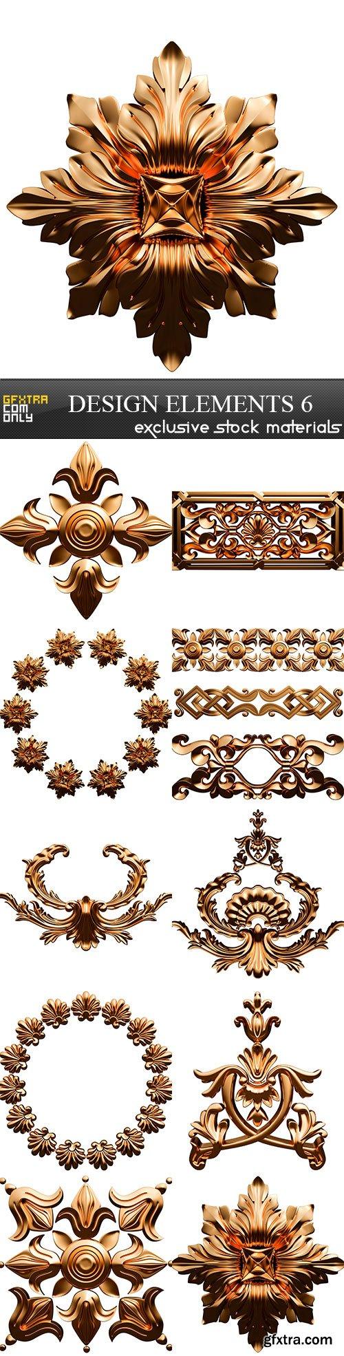 Design elements 6, 10 x UHQ JPEG