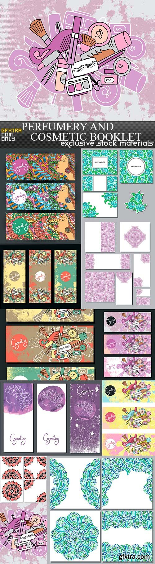 Perfumery and cosmetic booklet, 11 x EPS
