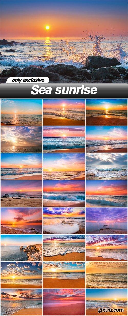 Sea sunrise - 25 UHQ JPEG