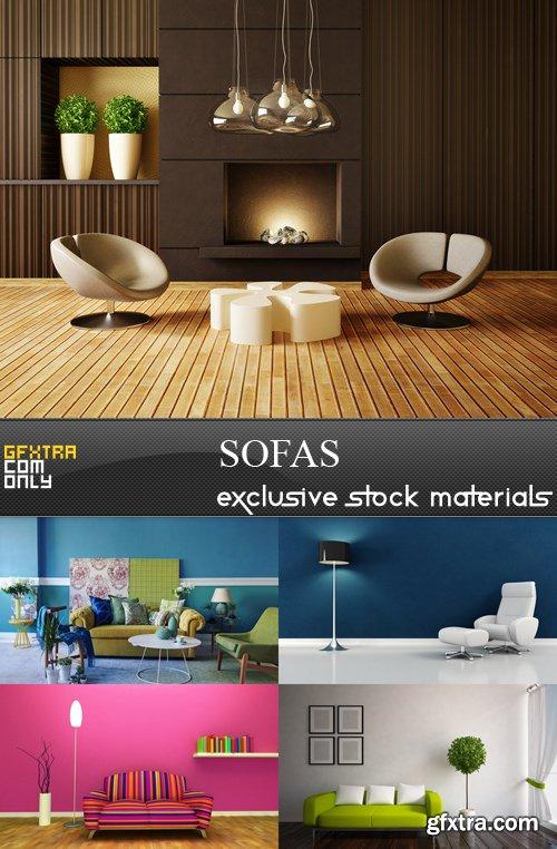 Sofas - 5 UHQ JPEG
