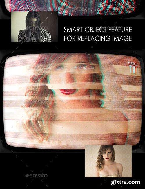 Graphicriver Retro TV Effect Photo Template 11372910