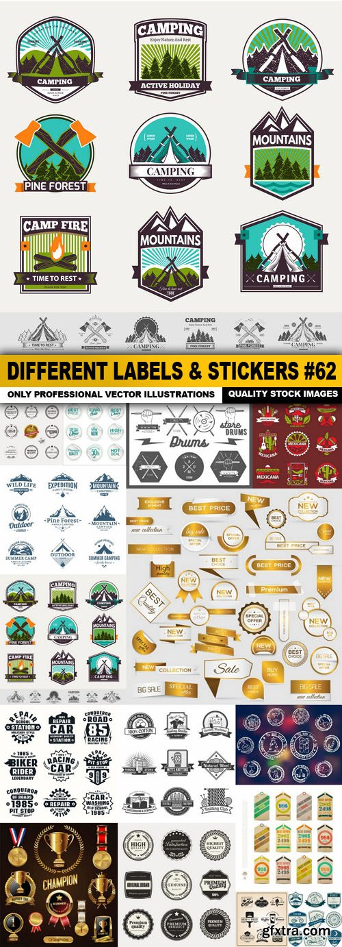 Different Labels & Stickers #62 - 15 Vector