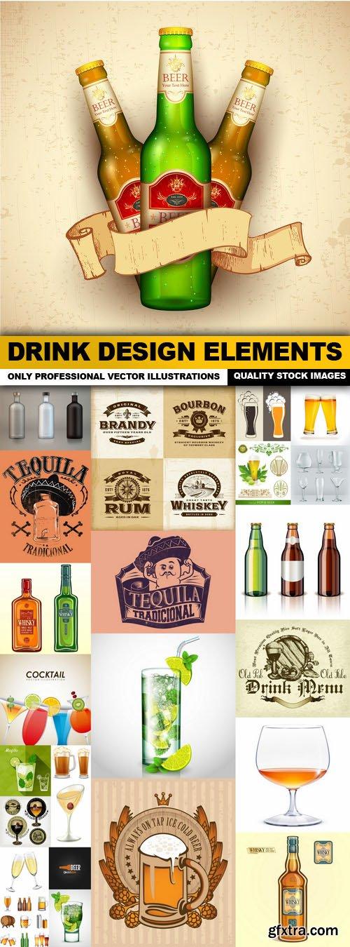 Drink Design Elements - 25 Vector
