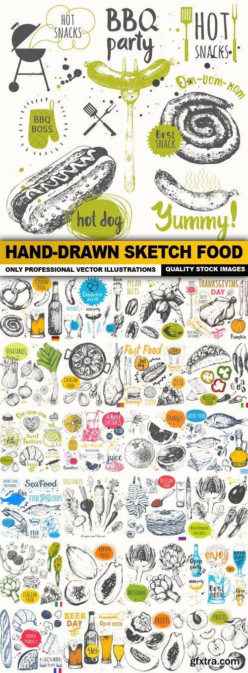Hand-Drawn Sketch Food - 25 Vector
