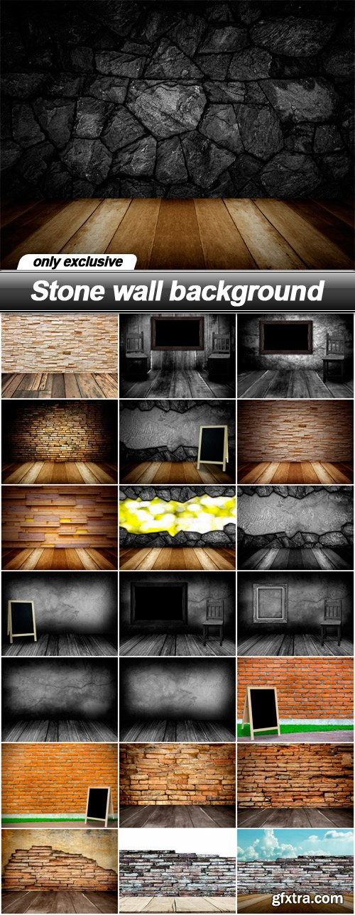 Stone wall background - 22 UHQ JPEG