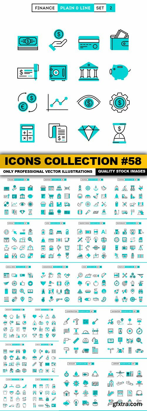 Icons Collection #58 - 22 Vector