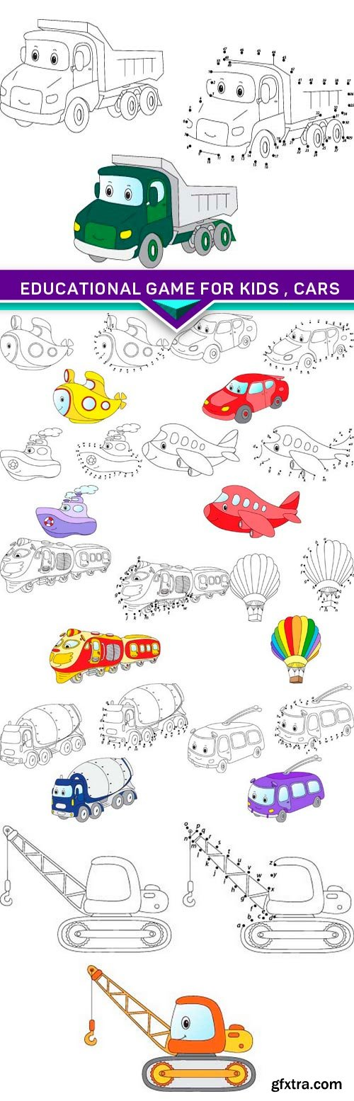Educational game for kids , cars 10x EPS
