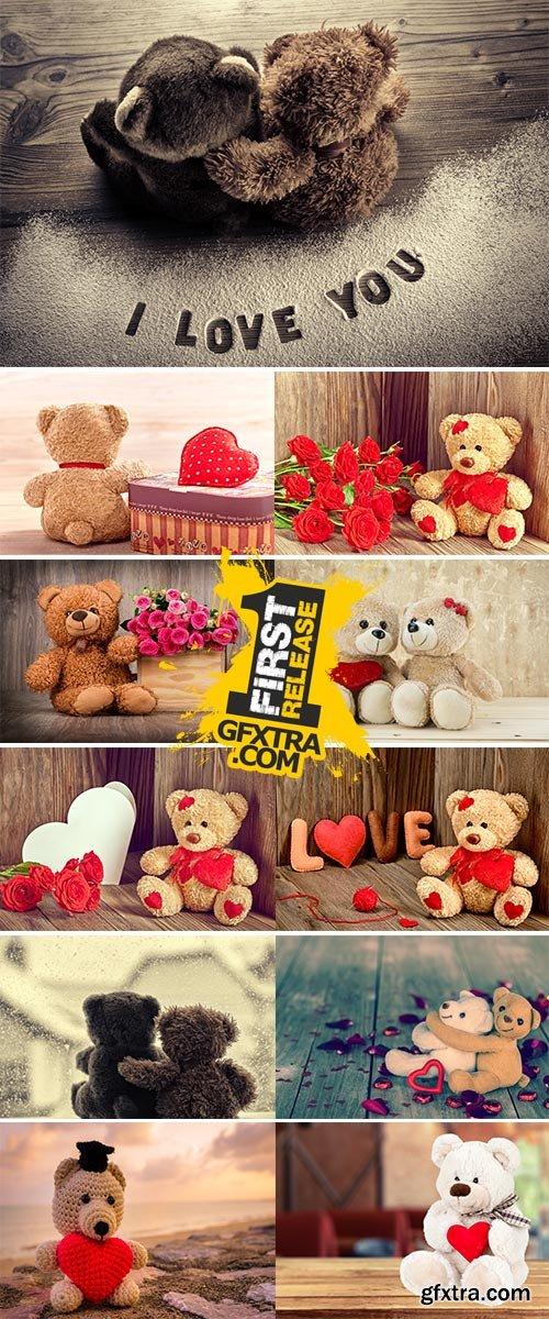 Stock Image Valentine Teddy bears