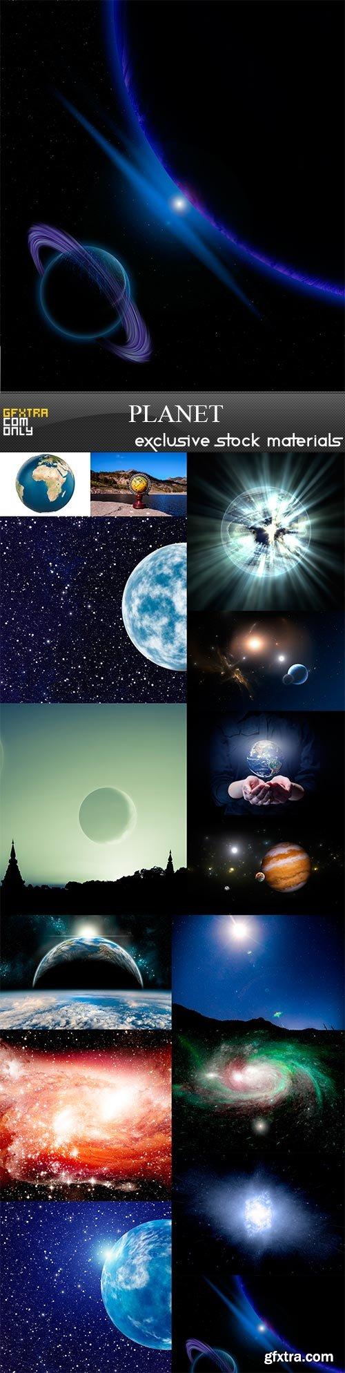 Planet, 15 x UHQ JPEG