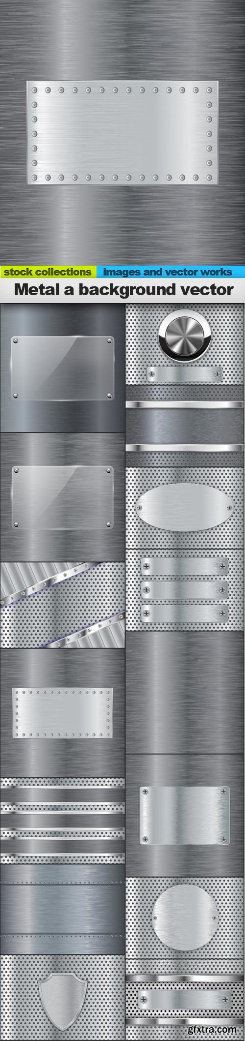 Metal a background vector, 15 x EPS