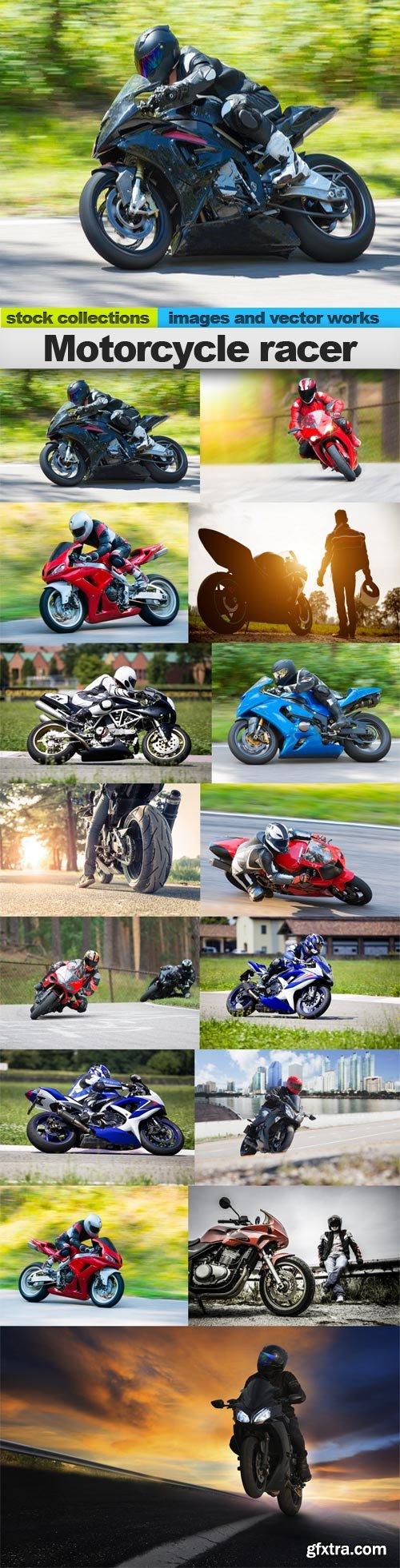 Motorcycle racer, 15 x UHQ JPEG