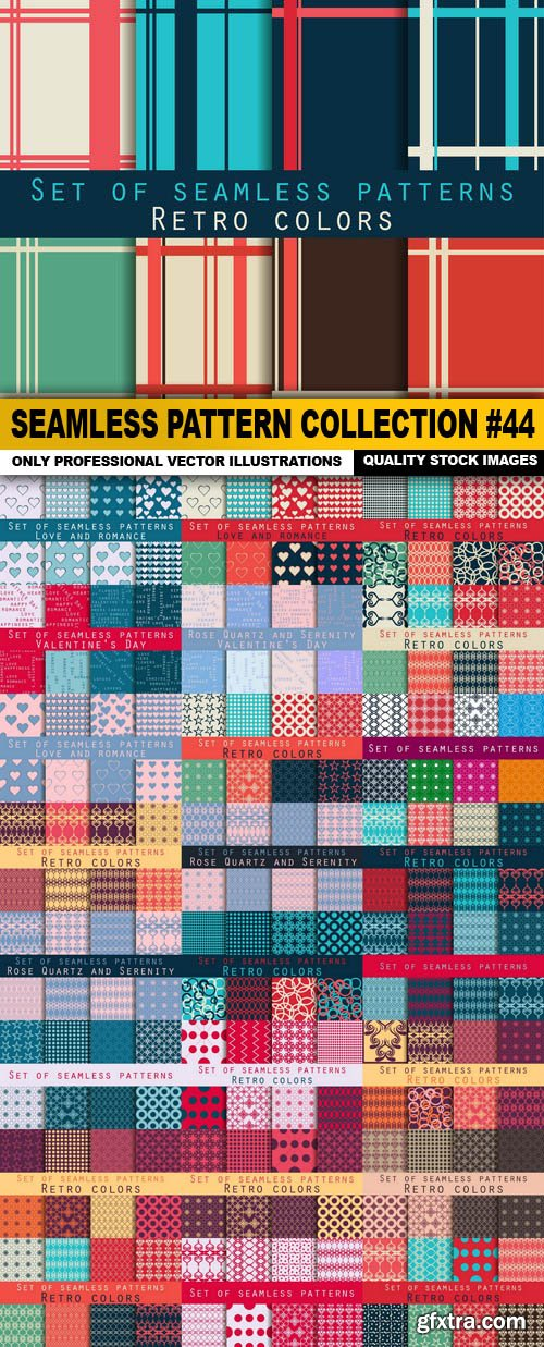 Seamless Pattern Collection #44 - 25 Vector
