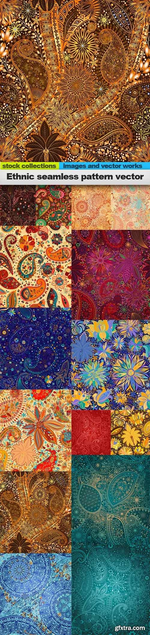 Ethnic seamless pattern vector, 15 x EPS